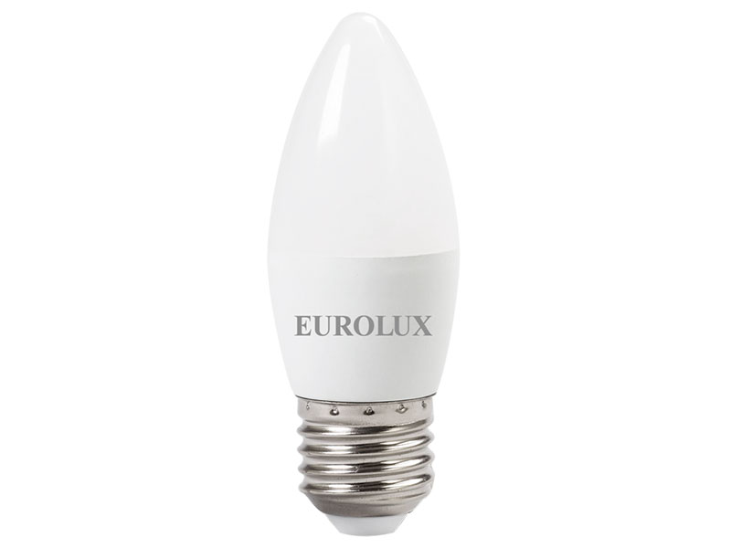 Лампочка Eurolux Свеча LL-E-C37-6W-230-4K-E27 76/2/10