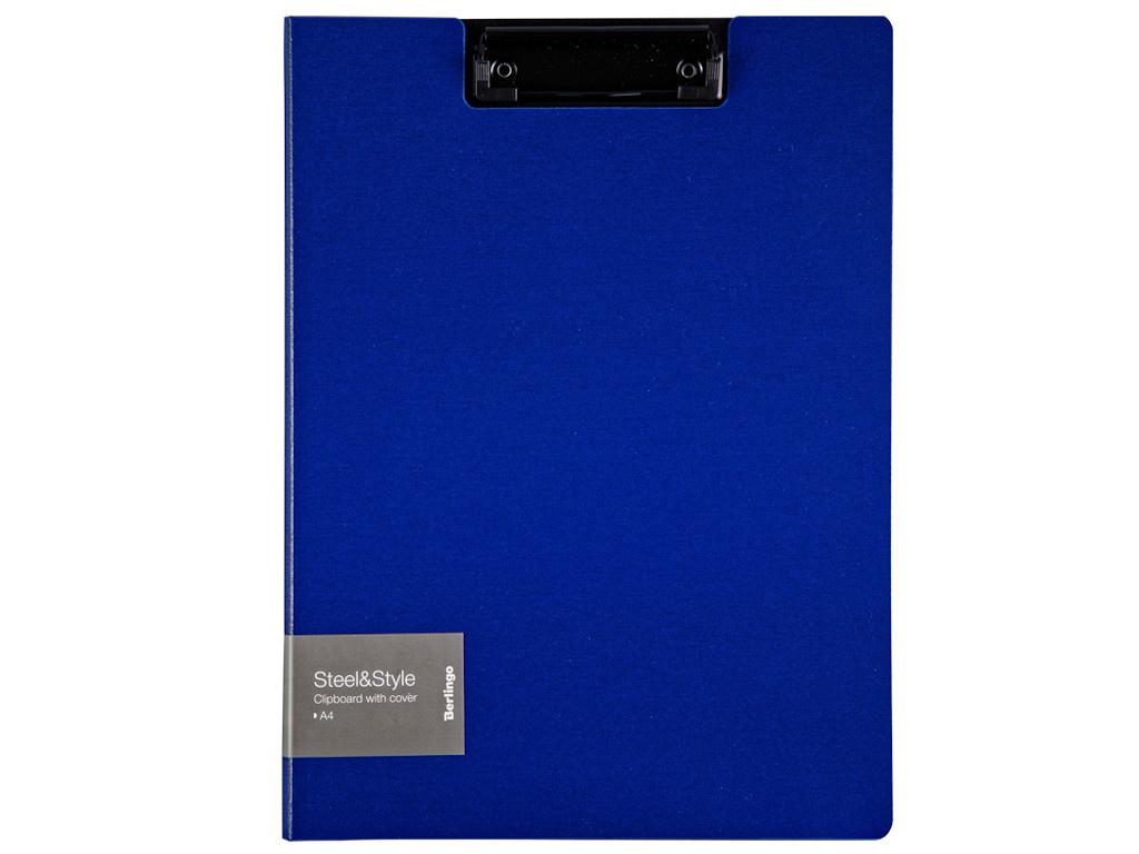 Папка Berlingo Steel&Style A4 пластик, полифом с зажимом Blue PPf_93002