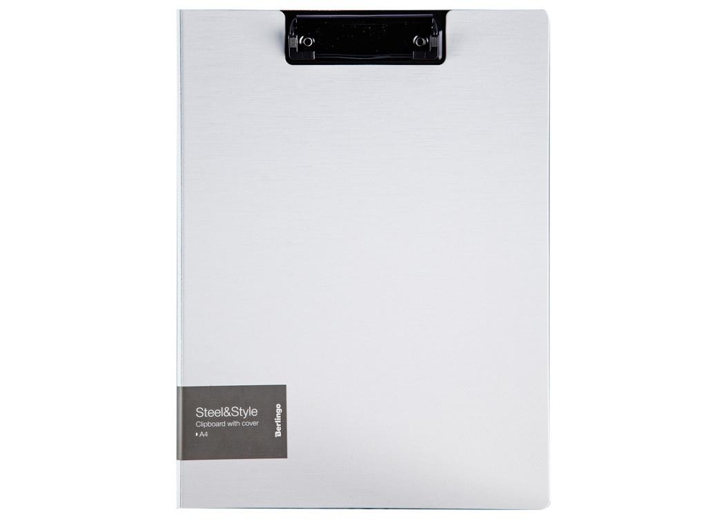 Папка Berlingo Steel&Style A4 пластик, полифом, с зажимом White PPf_93004