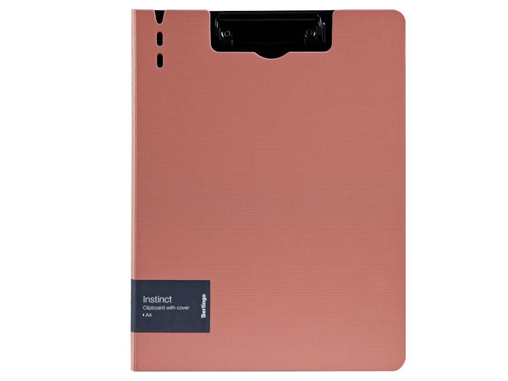Папка Berlingo Instinct A4 пластик, полифом, с зажимом Flamingo-Black PPf_93201