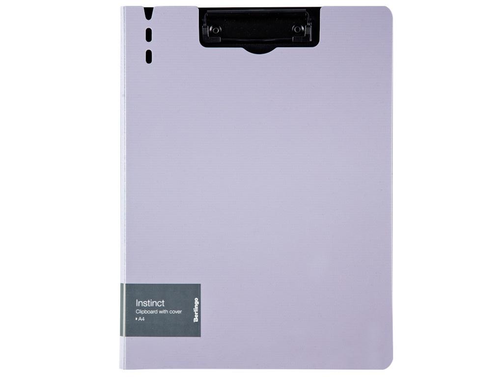Папка Berlingo Instinct A4 пластик, полифом, с зажимом Lavender-Black PPf_93203