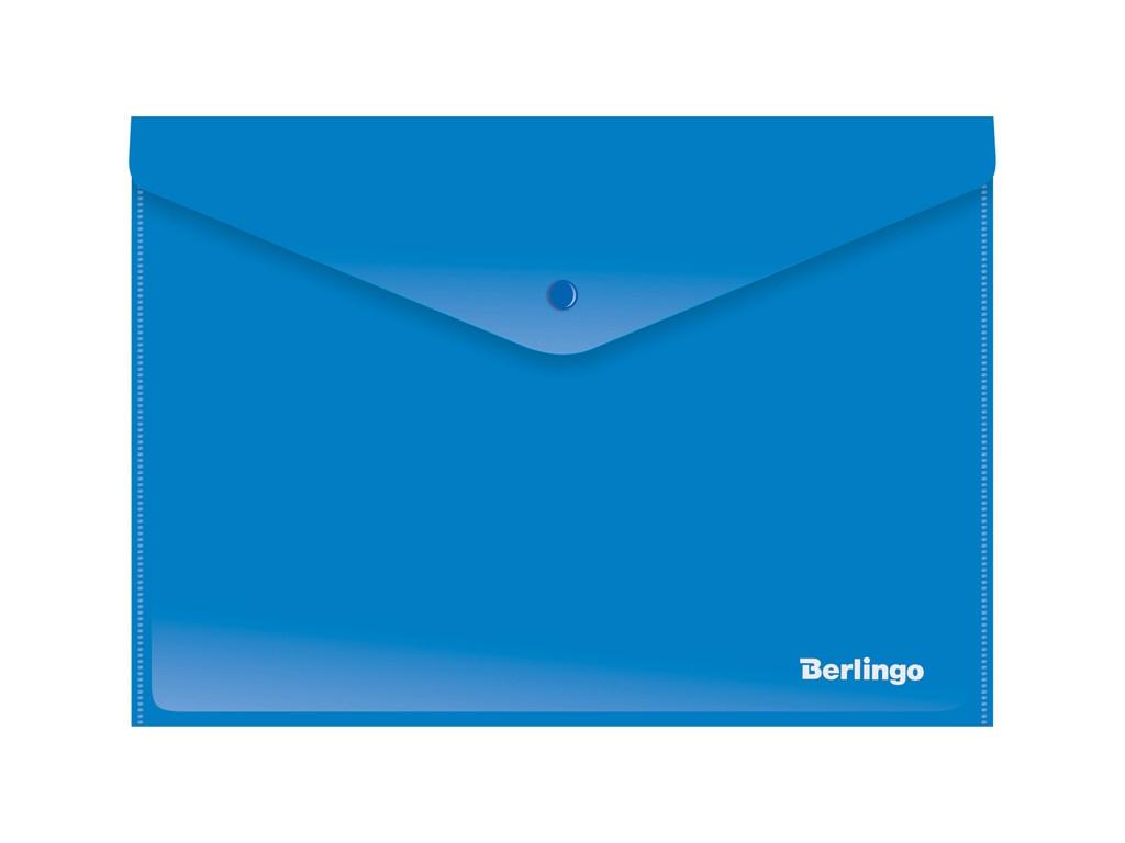 Папка Berlingo A4 180мкм, непрозрачная, на кнопке Blue AKk_04402