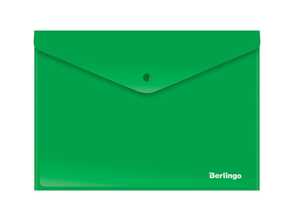 Папка Berlingo A4 180мкм, непрозрачная, на кнопке Green AKk_04404