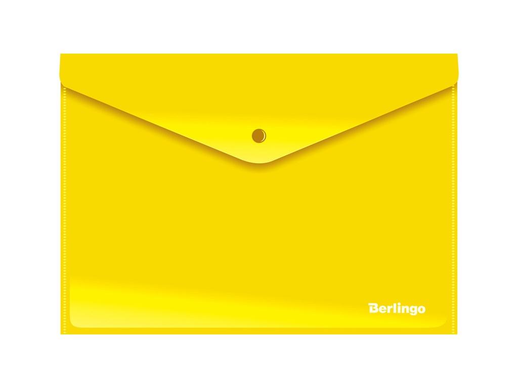 Папка Berlingo A4 180мкм, непрозрачная, на кнопке Yellow AKk_04405