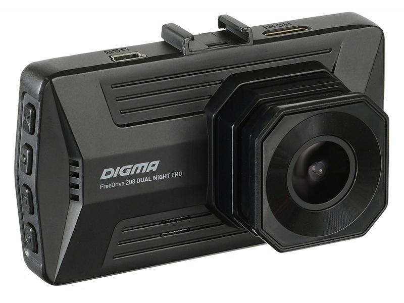 Видеорегистратор DIGMA FreeDrive 208 DUAL NIGHT FHD, 2 камеры