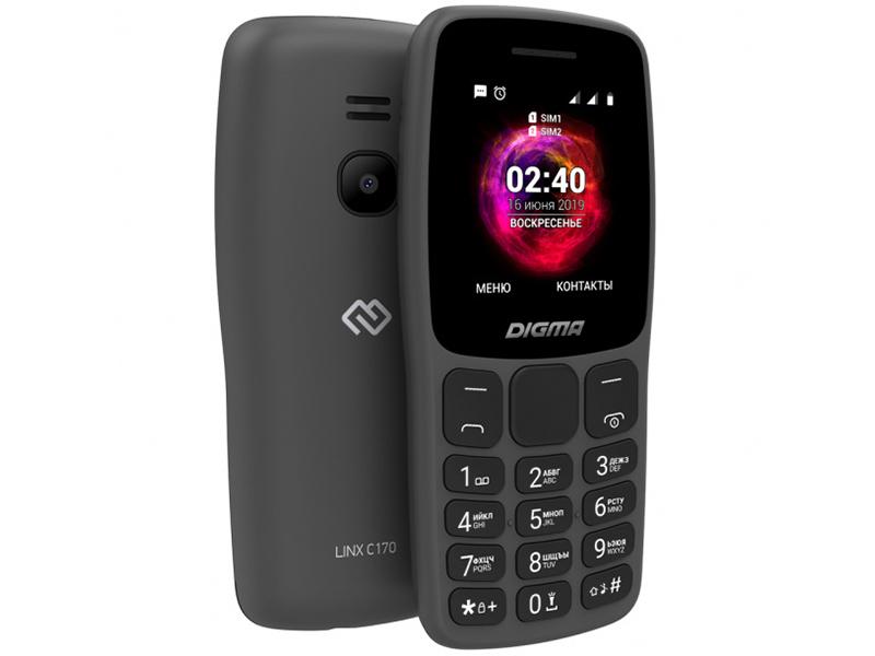 Сотовый телефон DIGMA LINX C170 Graphite