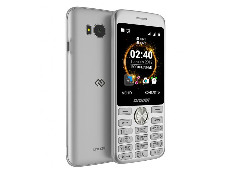 Сотовый телефон Digma Linx C280 Silver