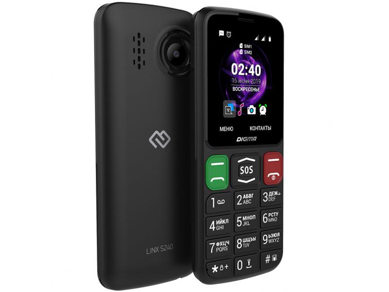 Сотовый телефон Digma Linx S240 Black сотовый