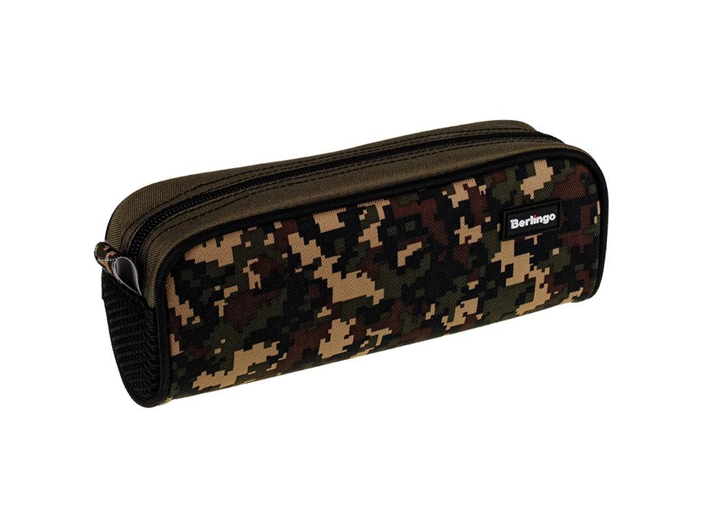 Пенал Berlingo 210x80x60mm Military Green PM07124