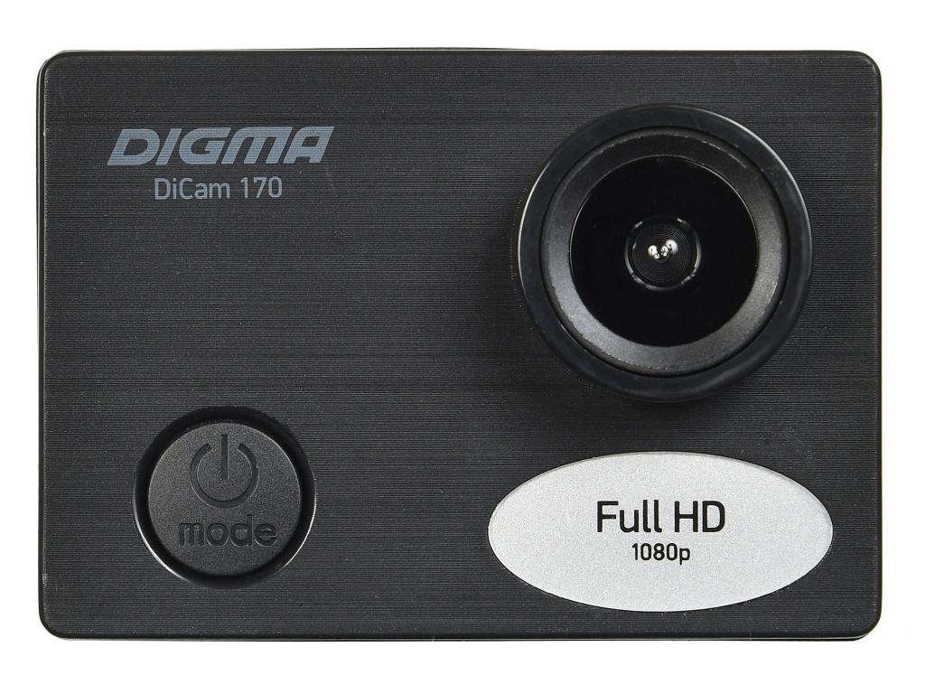 Фото - Экшн-камера Digma DiCam 170 Black утеплённая куртка гк спецобъединение метель хаки р 104 108 рост 170 176 кур 304 104 170