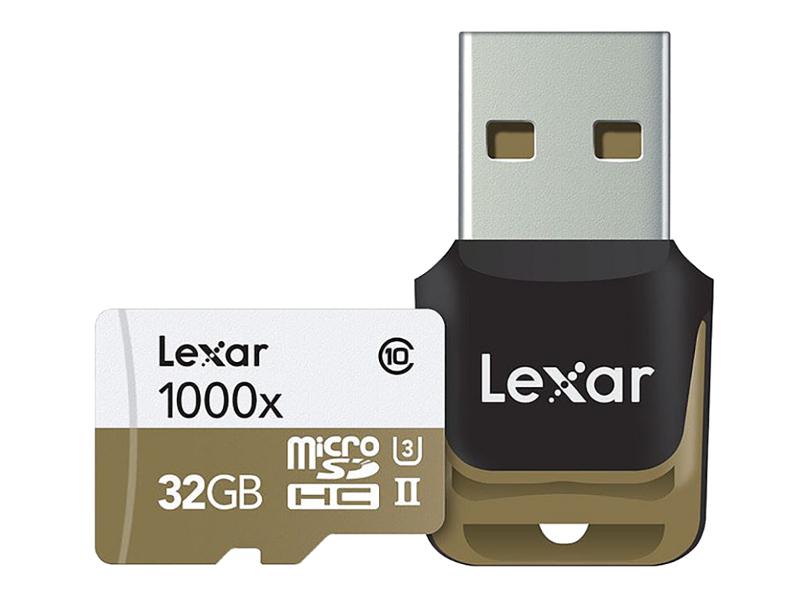 Карта памяти 32Gb - Lexar Micro Secure Digital HC 1000X Class 10 UHS-II LSDMI32GCBEU1000R + USB карт-ридер