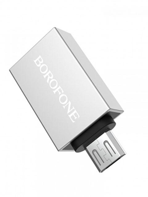 Аксессуар Borofone BV2 Micro USB OTG Silver