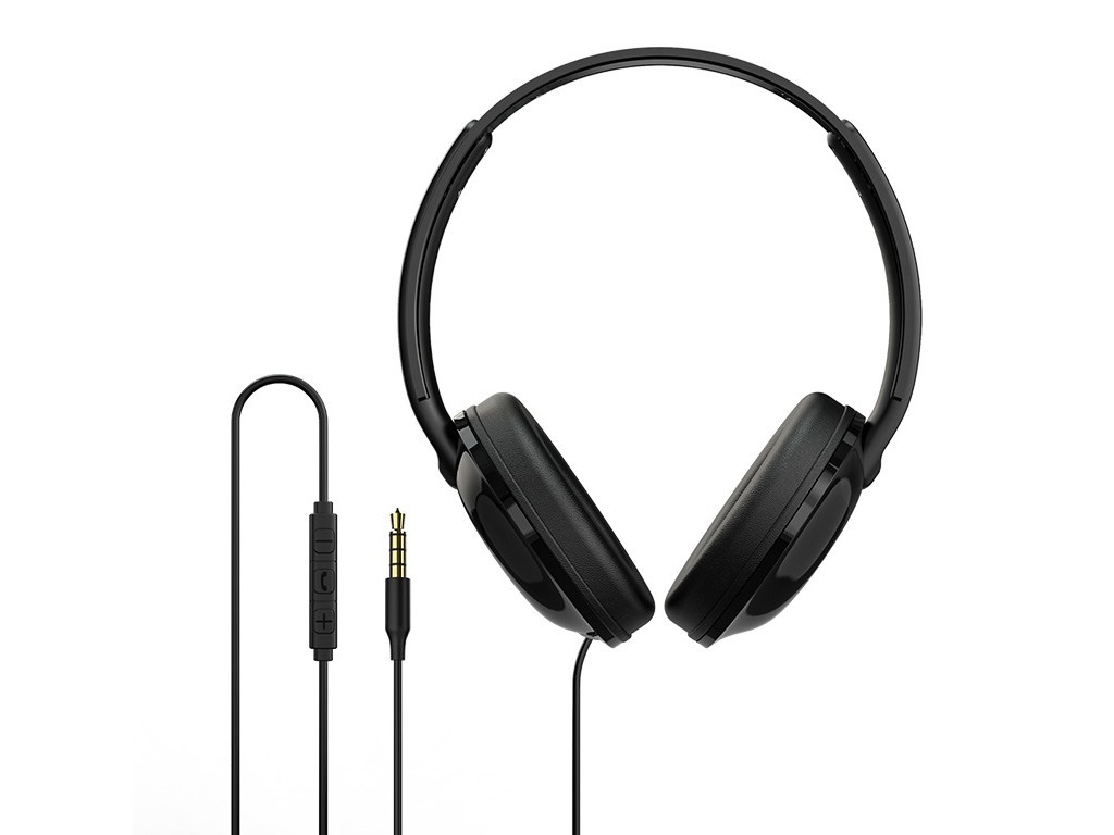 Наушники Borofone BO1 EnjoyBass In-line Control Wired Headphone Black