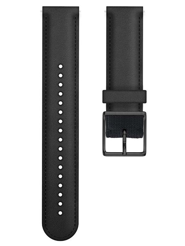 Аксессуар Ремешок для Polar Ignite Leather M/L Black 91080478