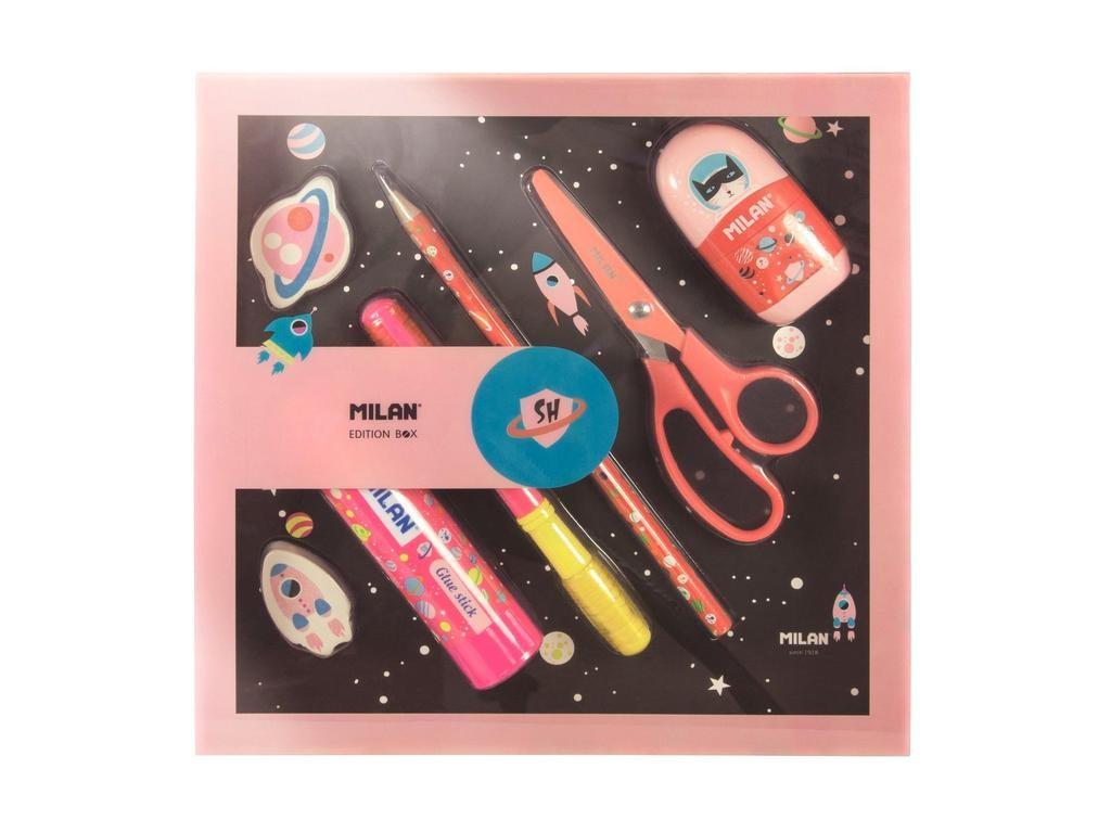 Набор канцелярский Milan Super Heroes Space Pink 08736SHSP