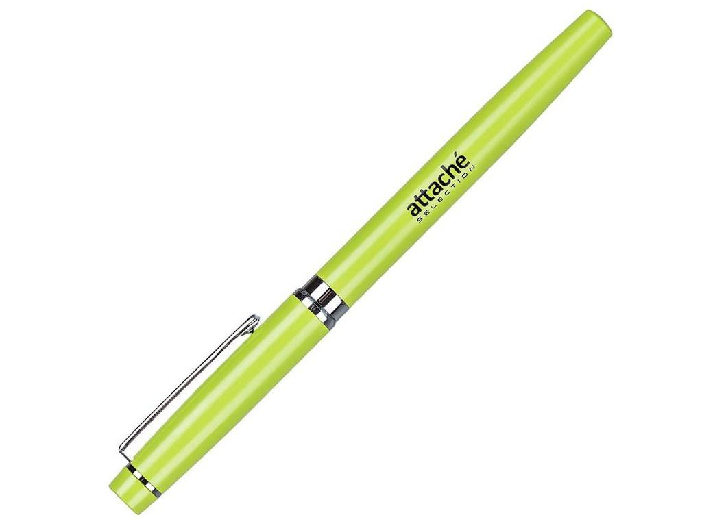 Ручка гелевая Attache Selection Lime корпус Green, стержень Blue 1035346