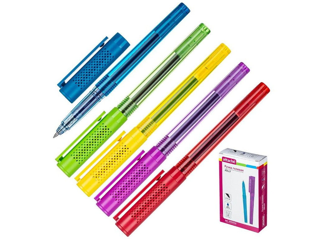 Ручка гелевая Attache Jolly Blue 1035344