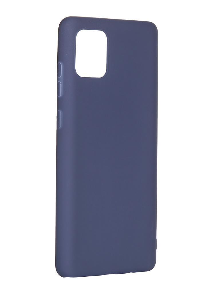 Чехол Pero для Samsung Galaxy Note 10 Lite Soft Touch Blue CC01-N10LBL