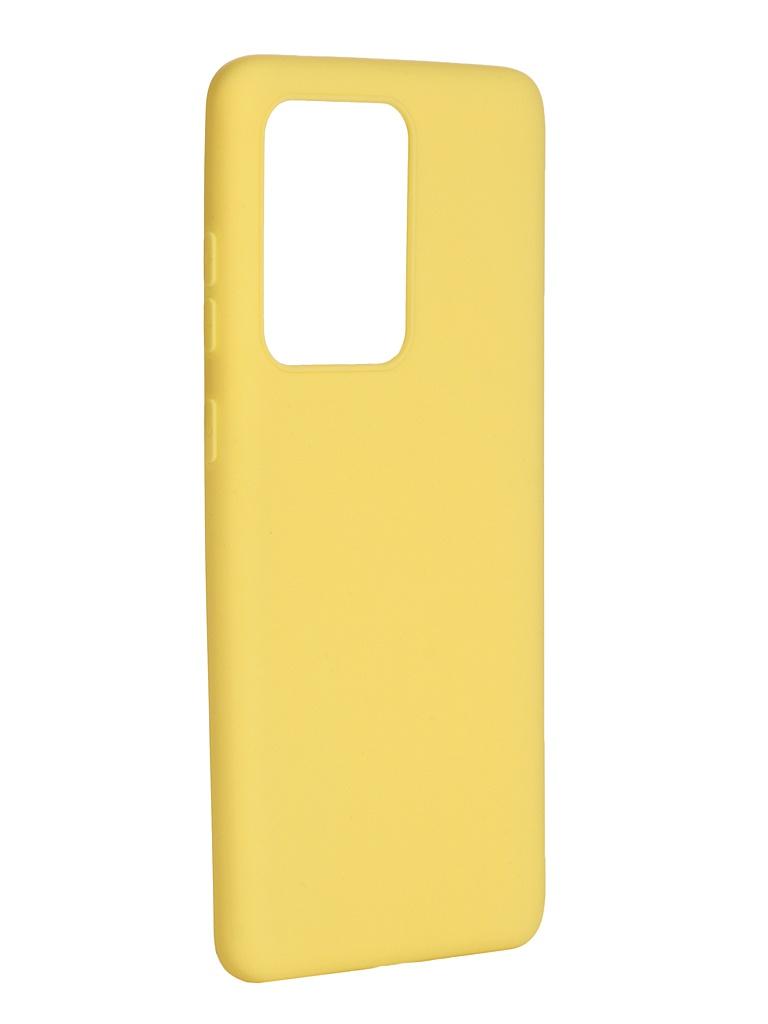 Чехол Pero для Samsung Galaxy S20 Ultra Soft Touch Yellow CC01-S20UY