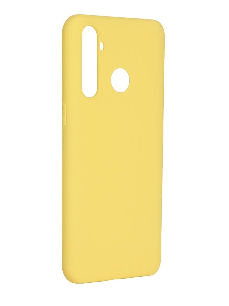 Чехол Pero для Realme 5 Pro Soft Touch Yellow CC01-R5PY