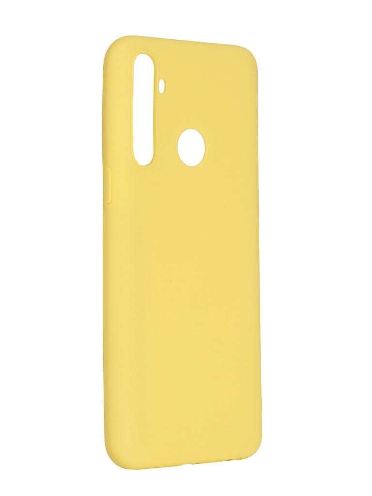Чехол Pero для Realme 5 Soft Touch Yellow CC01-R5Y