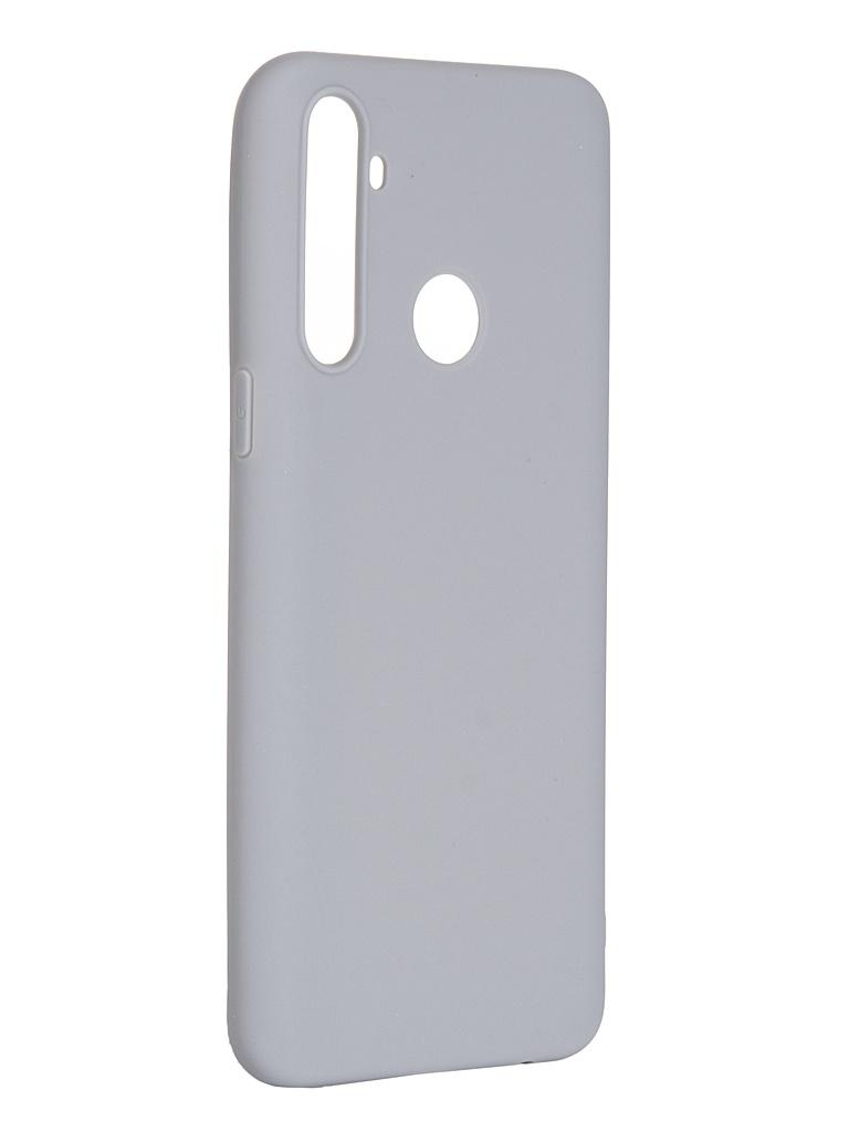 Чехол Pero для Realme 5 Soft Touch Grey CC01-R5GR