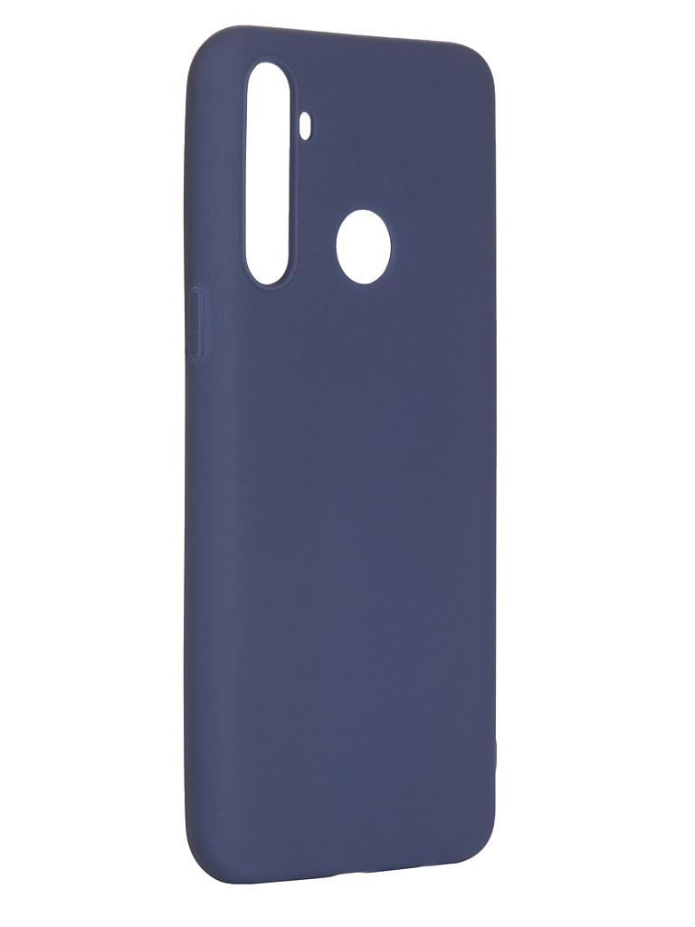 Чехол Pero для Realme 5 Soft Touch Blue CC01-R5BL