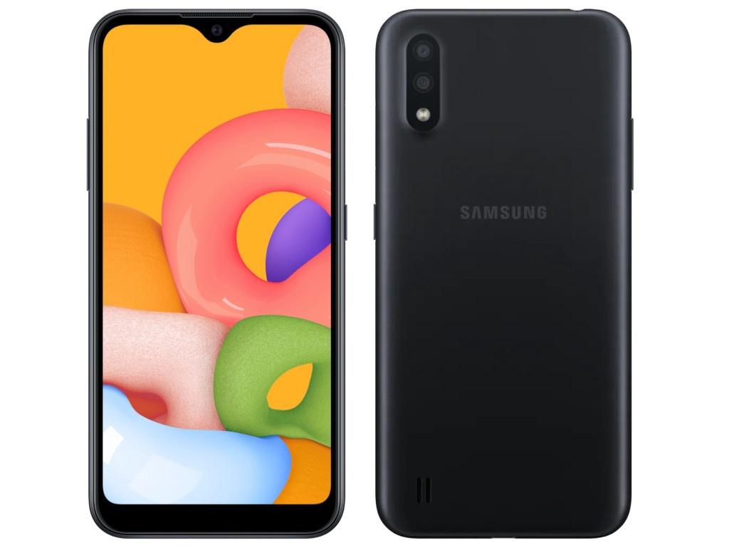 Сотовый телефон Samsung SM-A015F Galaxy A01 2Gb/16Gb Black Выгодный набор + серт. 200Р!!!