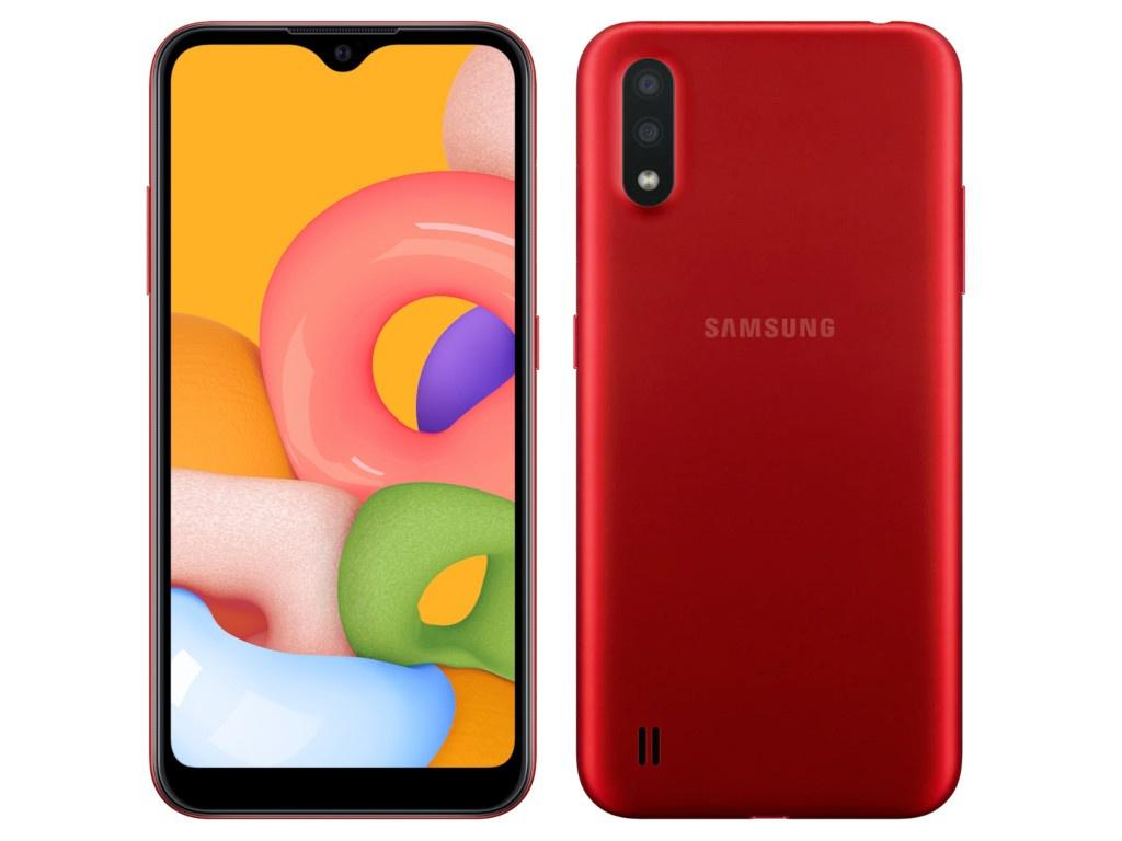 Сотовый телефон Samsung SM-A015F Galaxy A01 2Gb/16Gb Red Выгодный набор + серт. 200Р!!! чехол red line для samsung galaxy a01 sm a015f book cover blue ут000019498