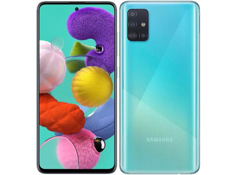 Сотовый телефон Samsung SM-A515F Galaxy A51 4Gb/64Gb blue Выгодный набор + серт. 200Р!!!