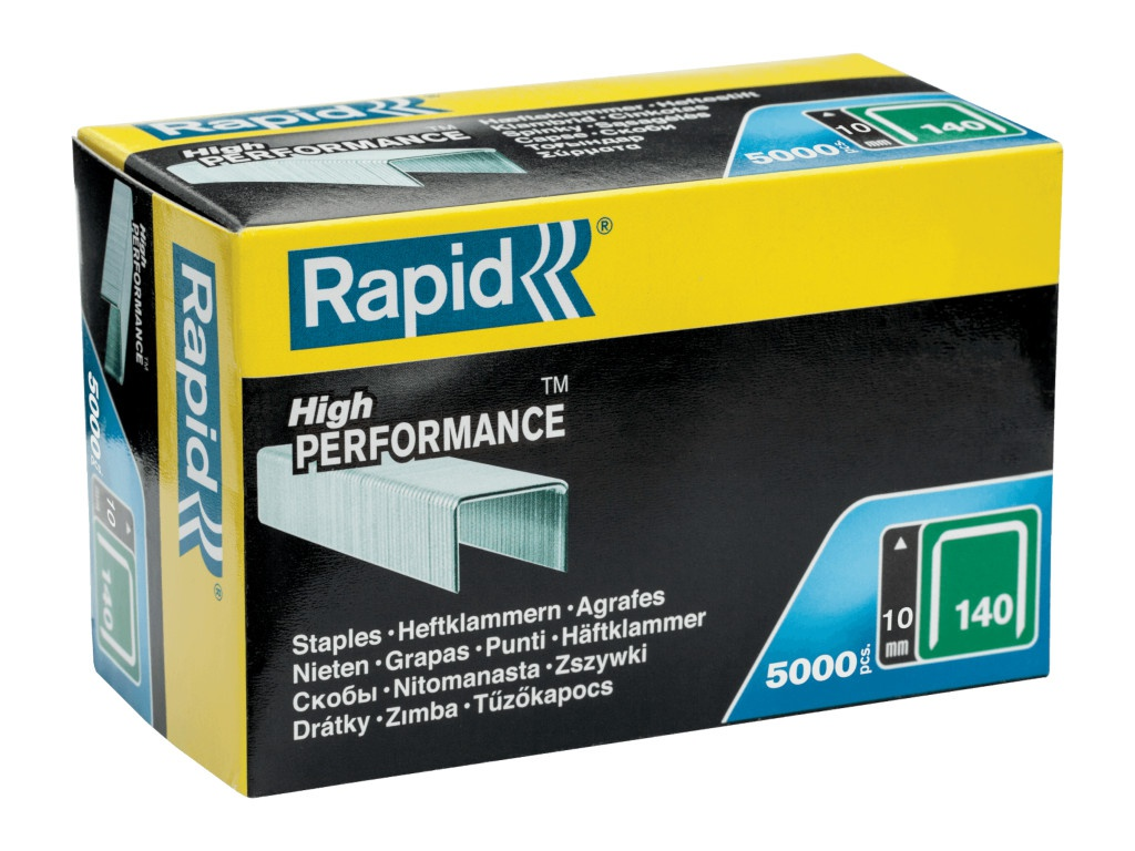 Скобы Rapid 10mm тип 140 5000шт 11910711 степлер ручной rapid m20r fun to fix 23600800