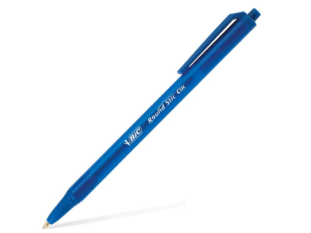 Ручка шариковая Bic Round Stic Clic 1mm корпус Blue, стержень Blue 926376