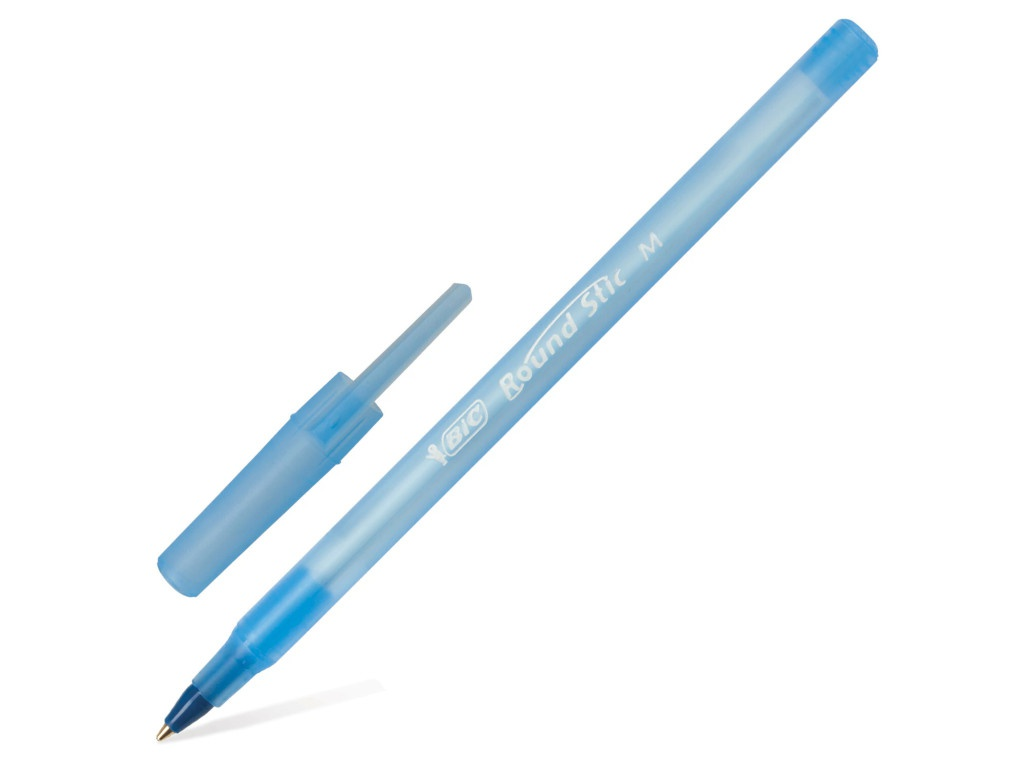 Ручка шариковая Bic Round Stic 1mm корпус Blue, стержень Blue 921403