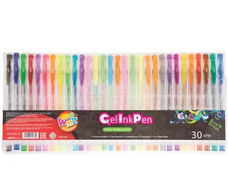Набор гелевых ручек Beifa Wmz 30 цветов 0.9mm GA1030-30
