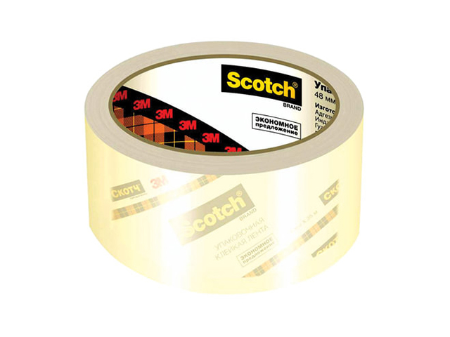 Клейкая лента 3M Scotch 48mm x 50m суперклейкая 3645T