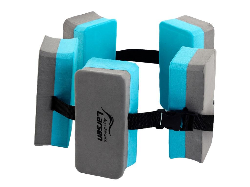Пояс для обучения плаванию Larsen AquaFitness YP-10B 5 секций Graphite-Turquoise 359155