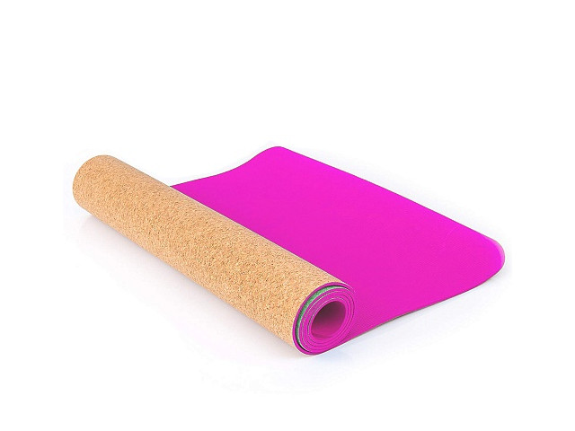 Коврик Larsen TPE+ 173x61x0.4cm Pink-Corkwood 358819