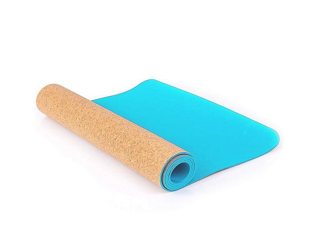 Коврик Larsen TPE+ 173x61x0.4cm Light Blue-Corkwood 358818