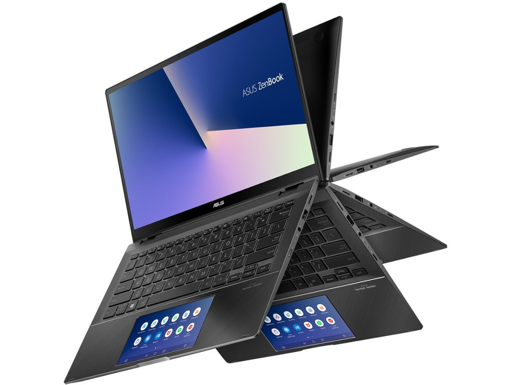 Ноутбук ASUS Zenbook Flip UX463FL-AI023T Grey 90NB0NY1-M00770 (Intel Core i5-10210U 1.6 GHz/8192Mb/512Gb SSD/nVidia GeForce MX250 2048Mb/Wi-Fi/Bluetooth/Cam/14.0/1920x1080/Touchscreen/Windows 10 Home 64-bit)