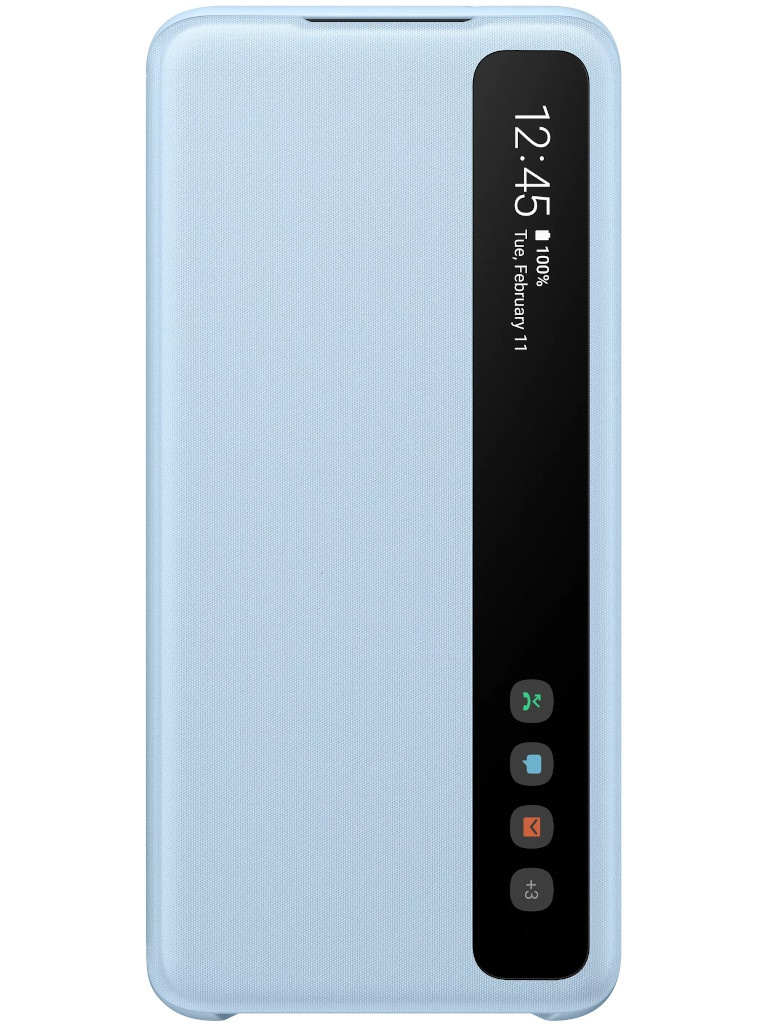 Чехол для Samsung Galaxy S20 Smart Clear View Cover Sky Blue EF-ZG980CLEGRU