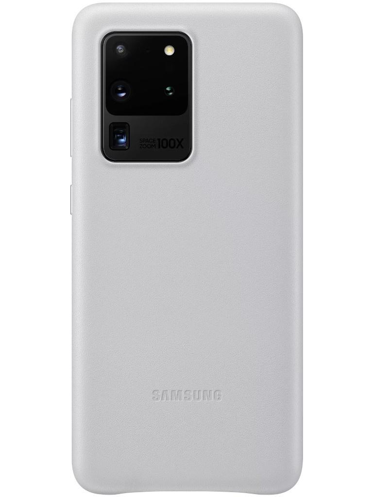 Чехол для Samsung Galaxy S20 Ultra Leather Cover Silver EF-VG988LSEGRU чехол для сотового телефона samsung galaxy note 8 clear cover violet ef qn950cvegru