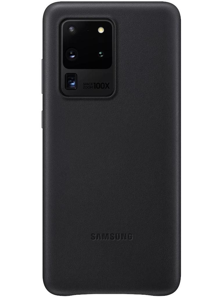 Чехол для Samsung Galaxy S20 Ultra Leather Cover Black EF-VG988LBEGRU