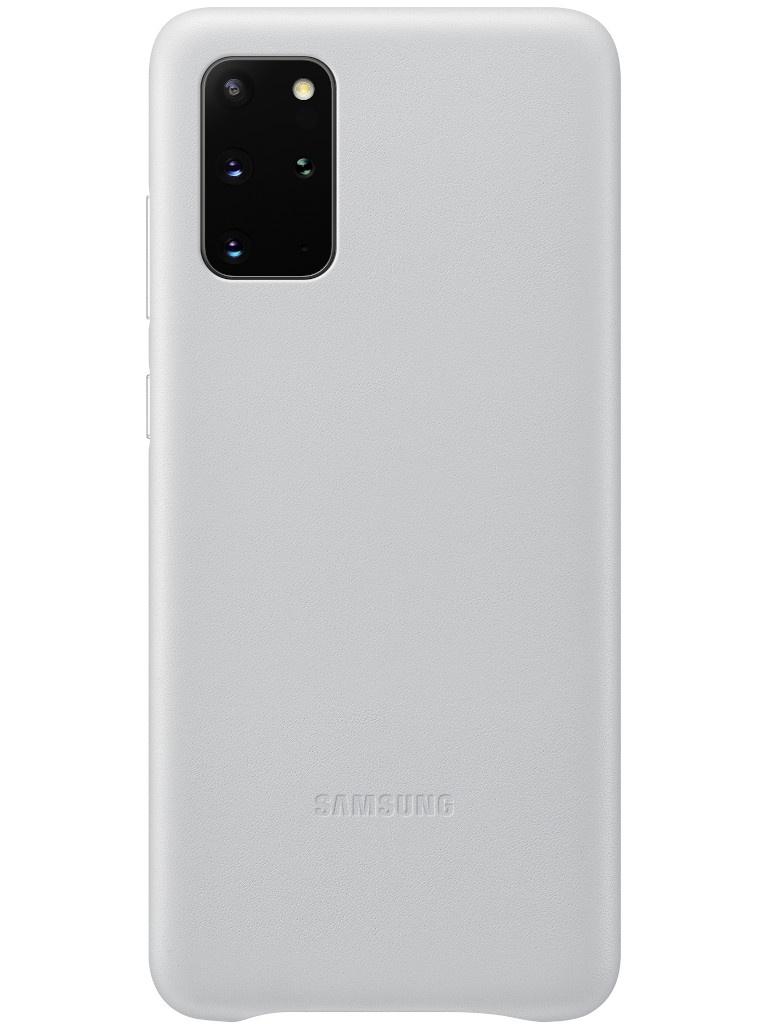 Чехол для Samsung Galaxy S20 Plus Leather Cover Silver EF-VG985LSEGRU