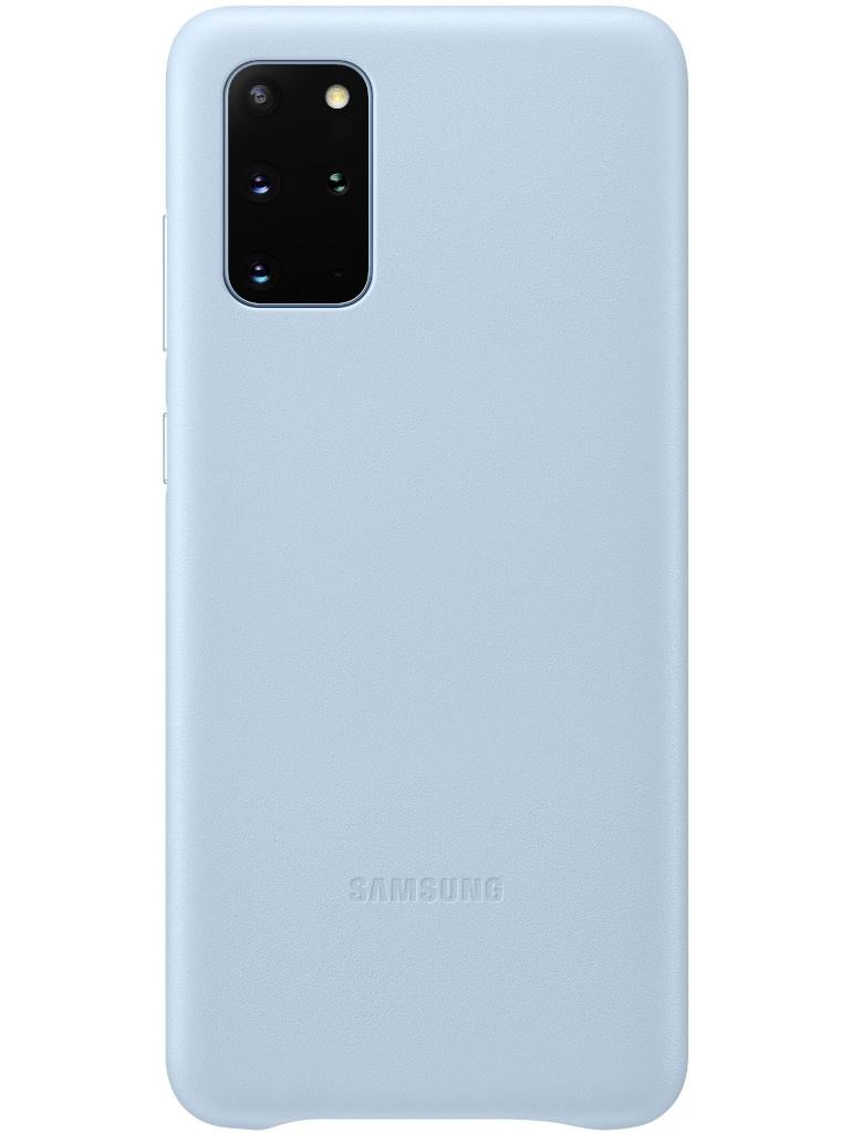Фото - Чехол для Samsung Galaxy S20 Plus Leather Cover Sky Blue EF-VG985LLEGRU чехол для samsung galaxy s20 plus silicone cover black ef pg985tbegru
