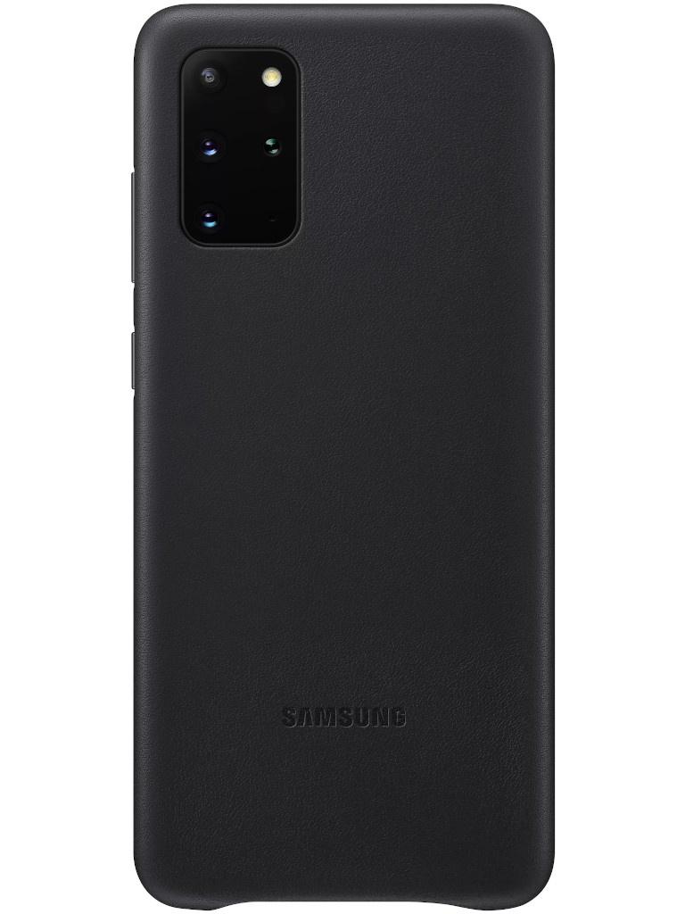 Чехол для Samsung для Galaxy S20 Plus Leather Cover Black EF-VG985LBEGRU samsung ef qa710c clear cover чехол для galaxy a7 2016 black