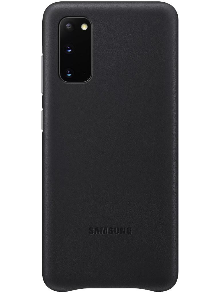 Чехол для Samsung Galaxy S20 Leather Cover Black EF-VG980LBEGRU