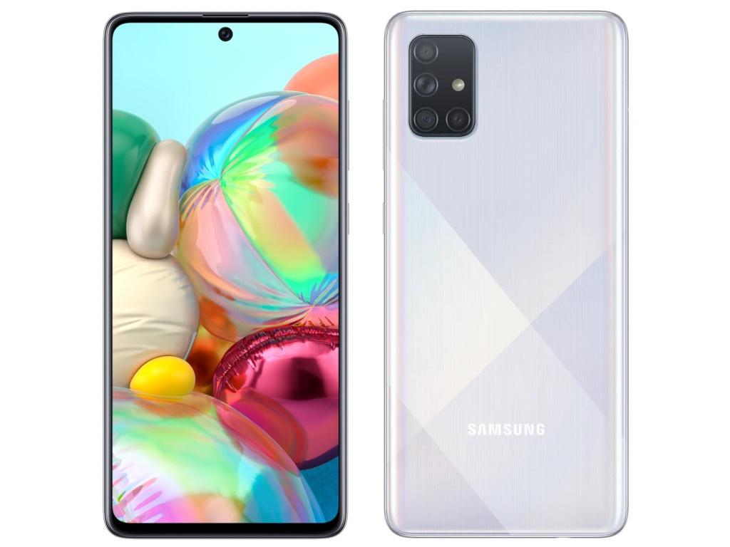 Сотовый телефон Samsung SM-A715F Galaxy A71 6Gb/128Gb Silver Выгодный набор + серт. 200Р!!!