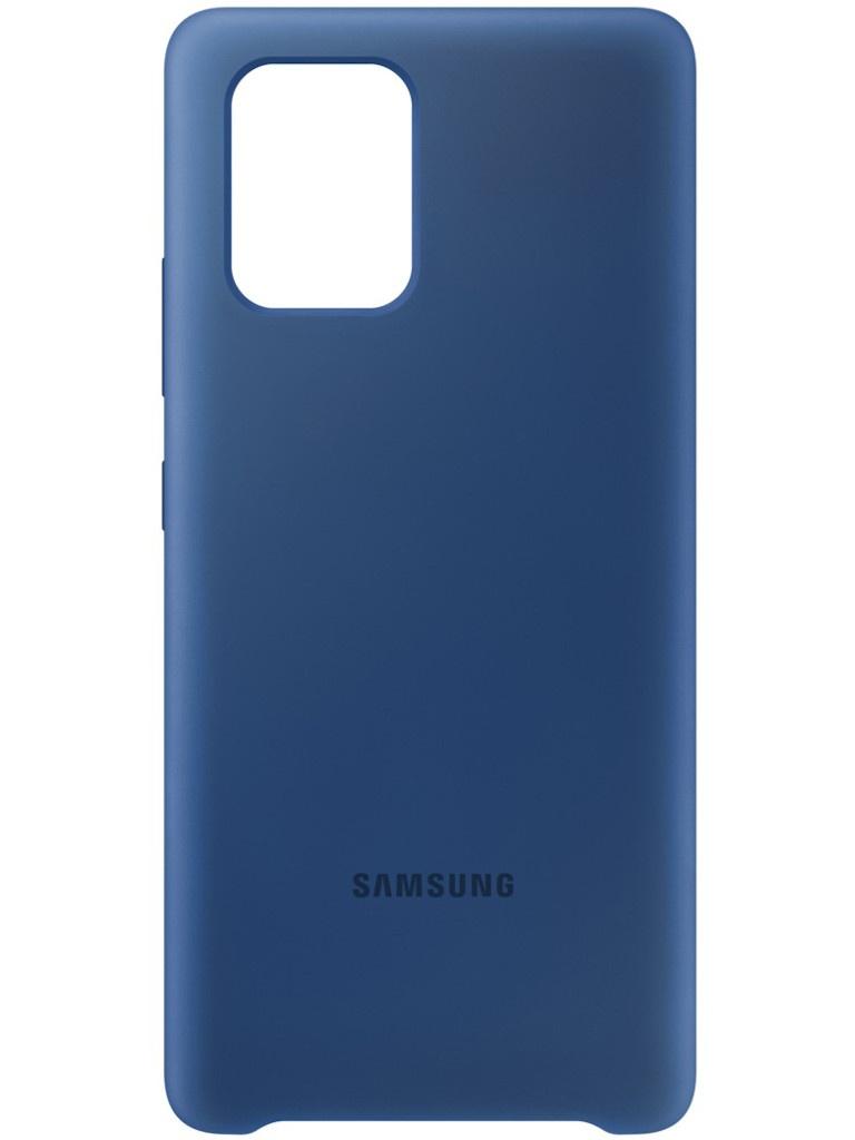 Чехол для Samsung Galaxy S10 Lite Silicone Cover Blue EF-PG770TLEGRU аксессуар чехол накладка samsung galaxy s8 plus 2piece cover magenta magenta ef mg955ceegru