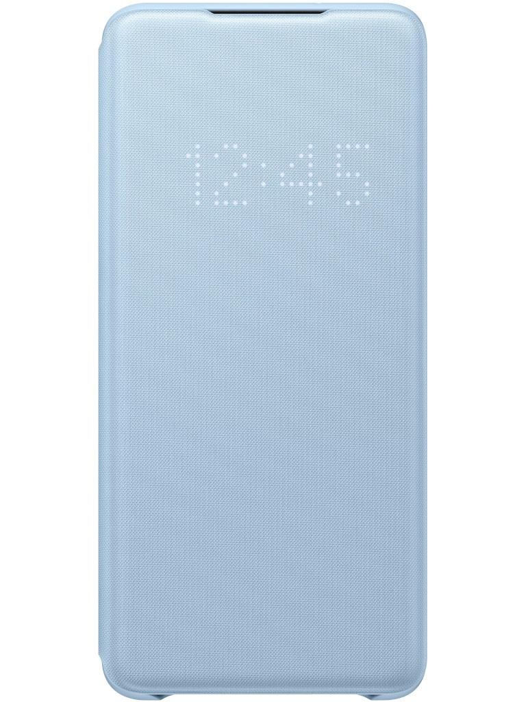 Чехол для Samsung Galaxy S20 Plus Smart LED View Cover Sky Blue EF-NG985PLEGRU аксессуар чехол samsung galaxy note 9 n960 led view cover blue sam ef nn960plegru