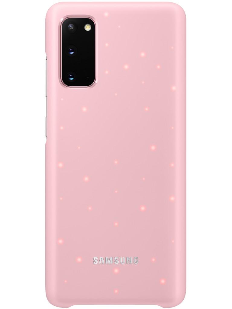 Чехол для Samsung Galaxy S20 Smart LED Cover Pink EF-KG980CPEGRU